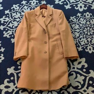Slim fit, wool Michael Kors camel topcoat